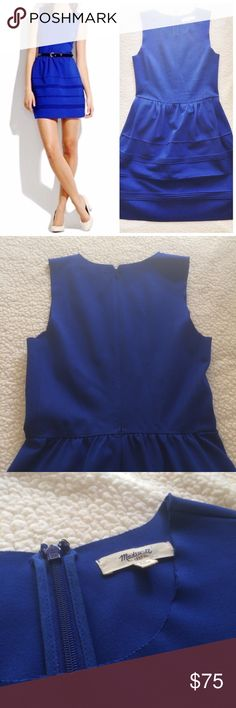 Madewell Royal Blue Dress This dress is gorgeous! It is in great condition. Please note that the neck area and shoulder holes look like they have been cut, but they came this way. No modeling. 10221610.  ✅Reasonable offers welcome! ✅BUNDLE DISCOUNTS! 🚫No trades/paypal/other apps. 🚫No lowball offers. Madewell Dresses