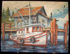 Treasures-n-Textures: Paint-by-Number and VTT Mural Art, Wall Art, Murals, Boat Pics, Nautical Art, Water Life, Mini Canvas, True Art, Love Painting