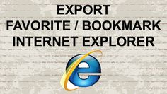 How to export favorite (bookmark) in Internet Explorer #video #youtube #tutorial #Howto #account #browser #internet #ie #internetexplorer #bookmark #popup #browsing #webbrowser