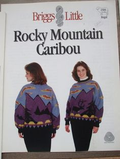 Second Silver - Wolf cows Caribou deer Pullover sweater Graph Knitting patterns Adult sizes Men women