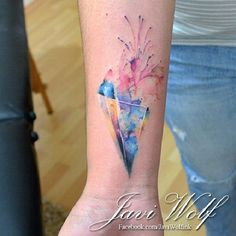 Design by Agnes Cecile; Tattoo by Javi Wolf watercolour tattoo