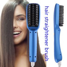 WT-018 hair straightener brush with ionic function!!!!!