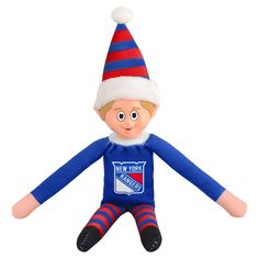 Forever Collectibles New York Rangers Team Holiday Elf, Multicolor