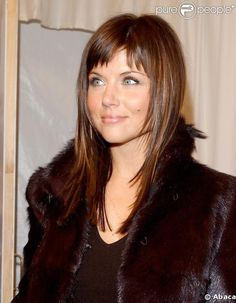 Straight hair with short bangs-- I'm a big fan of the wispy pieces around the face and the choppy bangs @Jennifer Milsaps L Altman Schafer