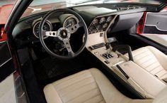 1970 Lamborghini Miura P400S.  and look at the interior!  Fantastic!