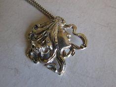 Silver Art Nouveau Necklace