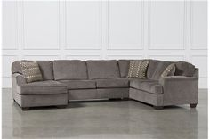 Display product reviews for KIT-LORIC SMOKE 3 PIECE SECTIONAL W/LAF CHAISE