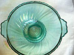 Jeanette Glass Co Depression Glass Ultramarine Petal by esmeelynne, $75.00