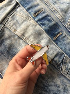 Stained Glass Brooch Airplane. Tiffany Technique
