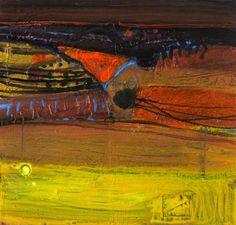 Christmas – Ronda by Barbara Rae - 1991 Oil & mixed media on paper collage, 60 x 60 cm Landscape Artwork, Abstract Landscape Painting, Watercolor Landscape, Abstract Watercolor, Abstract Paintings, Watercolour, Barbara Rae, Abstract Geometric Art, Glasgow School Of Art
