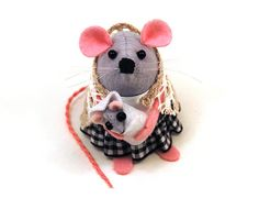 Mothers Day Mother and Baby Mouse ornament  Mom by TheHouseOfMouse, $39.00