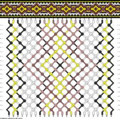 Friendship bracelet pattern 54579 - 24 strings, 5 colours