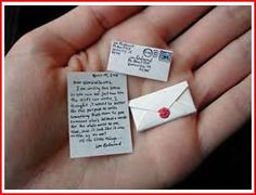 so cute...mini letters from the Tooth Fairy or one of Santa's elves...or Tinkerbell! or elf on the shelf