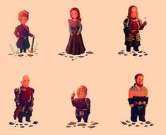 Olly Moss' 'Game of Thrones' Characters