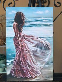 Watercolor Illustration, Watercolor Paintings, Girl Paintings, Art Pictures, Photos, Universe Art, Beach Art, Acrylic Art, Cartoon Art