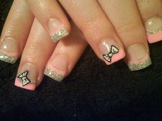 pink and silver bows