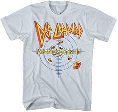 Brand New Men's Def Leppard Armageddon Target Classic Rock T-Shirt XL Neo Grunge, Grunge Style, Soft Grunge, Def Leppard, Tokyo Street Fashion, Rock T Shirts, Band Shirts, Rock Tees, Le Happy