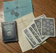 VINTAGE DELANDS AUTOMATIC PLAYING CARDS 1913 SS ADAMS USA WITH INSTRUCTIONS N/R | eBay
