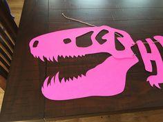 Etsy の Custom color dinosaur banner by PartyPlanningMomma