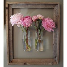Picture frame wall vase.