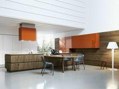 Cuisine intégrée en chêne sans poignées CLOE 03 by CESAR ARREDAMENTI | design Gian Vittorio Plazzogna