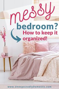 How to organize your small bedroom on a budget! These bedroom organization ideas and storage hacks are easy ways to utilize space in even a small room. Bedrooms clutter and small spaces can feel overwhelming, but there are lots of easy organizing ideas that are simple and fast. If you're on a budget (and trying to do this with no money), you can even organize with boxes in your dresser drawers. Step by step declutter checklist included! #organizationideas #declutteringtips