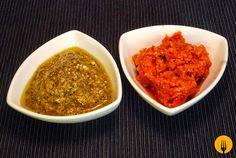 Pesto verde y pesto rosso       Pesto verde y pesto rosso   Hoy os traemos dos versiones de una s...