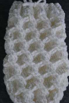 Diy Crafts - Crochet Pattern for Chunky Chain Link Baby Cocoon or Swaddle Sack - Welcome to sell finished items Loom Knitting Scarf, Loom Scarf, Loom Knitting Projects, Diy Scarf, Crochet Scarves, Baby Afghan Crochet, Afghan Crochet Patterns, Crochet Stitches, Knitting Patterns