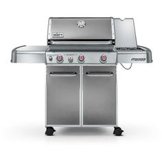 "WEBER Genesis E‑330 Propane Gas Grill with 3 Burners 60"" Silver $699.99 (SELLS ELSEWHERE AT $800!) PICK UP IN LONG BEACH, CA OR GET FREE WORLD SHIPPING - AromaCulinary.Com"
