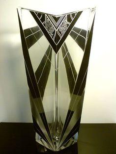 a stunning Palda bohemian art deco maxi geometric vase: