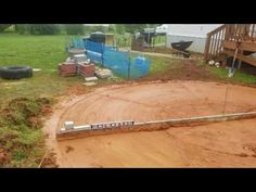 pool landscaping Leveling out my pool a - landscape Installing Above Ground Pool, Intex Above Ground Pools, Above Ground Pool Landscaping, Backyard Pool Landscaping, Above Ground Swimming Pools, In Ground Pools, Landscaping Ideas, Landscaping Plants, Youtube Design