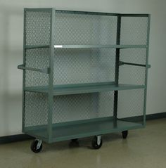 metal shelves with carts | shelf cart with expanded metal sides full welded carts