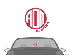 AOII Monogram Alumna Decal   Boutique Greek
