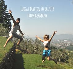 luisa & Martin 20 06 2013 jump for Forestaria organic farm in Tuscany - north hill of Lucca