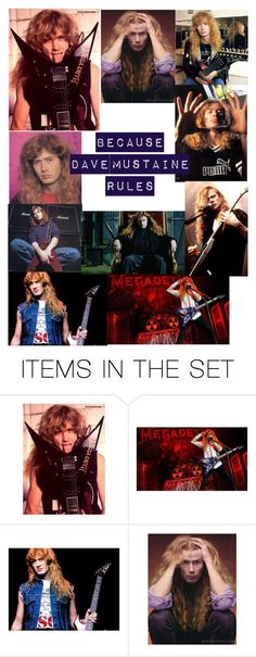 """""""Dave Mustaine"""" by bullet-to-the-brain ❤ liked on Polyvore featuring art"""