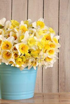 Groot boeket van gele narcissen. Stockfoto - 4656837