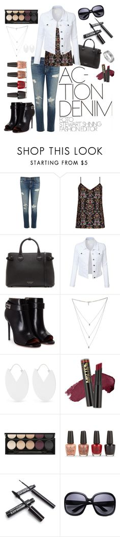 """""""Action in Denim"""" by sew-inspired ❤ liked on Polyvore featuring rag & bone/JEAN, City Chic, Burberry, LE3NO, Givenchy, Isabel Marant, L.A. Girl, Witchery, OPI and Aqua"""