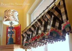 Buffalo Check Valance Curtain Makeover | Beyond the Screen Door