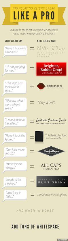 Translating client-speak