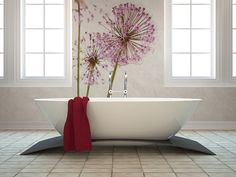 Wallpaper with garlic flower by Fototapeta4u.pl