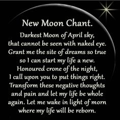 April New Moon Chant