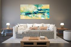 Items similar to Large Painting on Canvas,Original Painting on Canvas,modern wall canvas,abstract originals,huge canvas painting on Etsy Large Abstract Wall Art, Large Canvas Art, Large Painting, Canvas Wall Art, Texture Painting, Painting Art, Texture Art, Art Paintings, Abstract Paintings