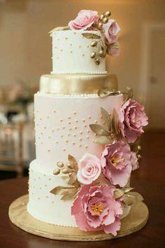 Pink Wedding Cakes 41 Super Creative Wedding Cakes With Timeless Style. Creative Wedding Cakes, Elegant Wedding Cakes, Elegant Cakes, Beautiful Wedding Cakes, Gorgeous Cakes, Wedding Cake Designs, Pretty Cakes, Timeless Wedding, Pink Wedding Cakes