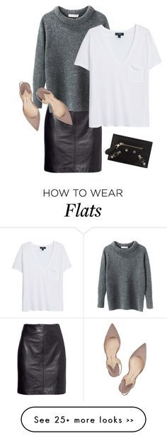 """""""Cute flats"""" by trendsy on Polyvore featuring H&M, Étoile Isabel Marant, MANGO, Paul Andrew and Balenciaga"""
