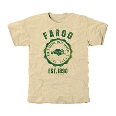 North Dakota State Bison Old-School Seal Tri-Blend T-Shirt - Cream - $24.99