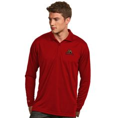 Cornell Big Red Antigua Exceed Long Sleeve Polo - Red - Fanatics.com