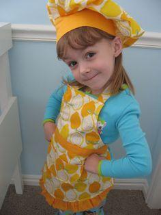 Cutie kid's aprons!  Apron Tutorial