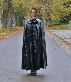 Raincoat, Goth, Capes, Plastic, Style, Fashion, Rain Fashion, Rain Jacket, Gothic