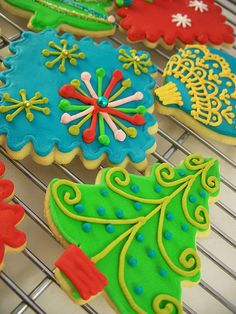 Christmas Cookies 2009 royal icing glaseado real dorection decoracion galletas xmas navidad pascua natal