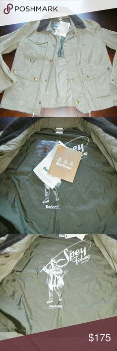 "NWT BARBOUR - AMPHIBIAN SPEY FISHING JACKET NWT Barbour - Amphibian Spey Fishing Jacket - Green Size (M). Excellent Condition!! Smoke Free and Pet Free Garment!!                                    Barbour ""The Spey Fishing"" Collection Amphibian Fishing Jacket Green MCA0223GN31 70% Cotton, 30% Polyamide Stand Up Collar w/ Hood Original Retail $299   No Defects Barbour Jackets & Coats"